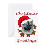 keeshond christmas Greeting Card