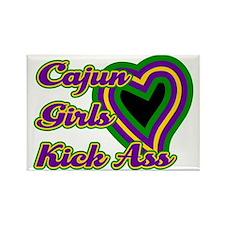 Cajun Girls Kick Ass Rectangle Magnet (10 pack)