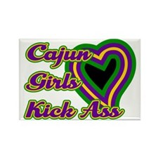 Cajun Girls Kick Ass Rectangle Magnet