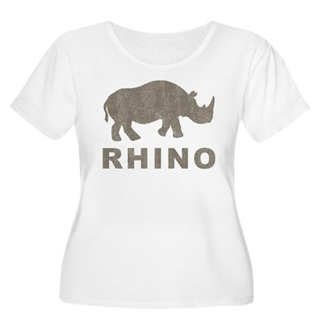 Vintage Rhino Women's Plus Size Scoop Neck T-Shirt