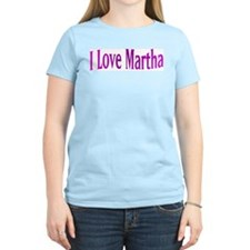 I Love Martha Women's Pink T-Shirt