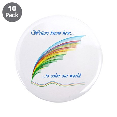"Writers know how... 3.5"" Button (10 pack)"