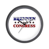 BRENNEN for congress Wall Clock