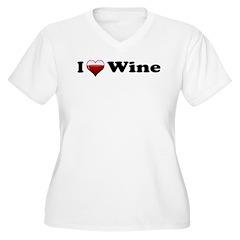I Love Red Wine Women's Plus Size V-Neck T-Shirt
