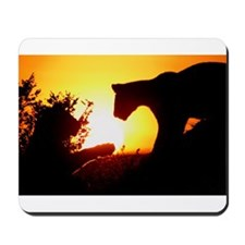 LIONS PLAY AT DAWN Mousepad