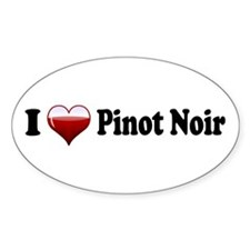 I Love Pinot Noir Oval Decal