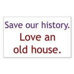 Save Our History Rectangle Sticker