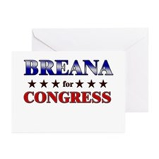 BREANA for congress Greeting Cards (Pk of 20)