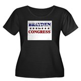 BRAYDEN for congress Women's Plus Size Scoop Neck