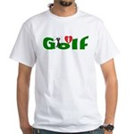Ladies Golf White T-Shirt
