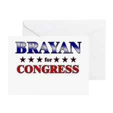 BRAYAN for congress Greeting Cards (Pk of 20)