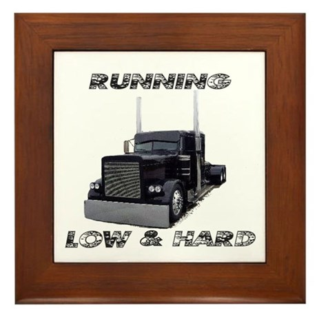 Running Low & Hard Framed Tile