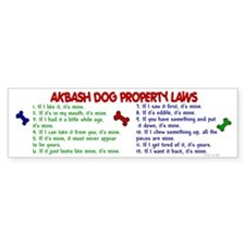 Akbash Dog Property Laws 2 Bumper Bumper Sticker