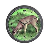 Deer Eating Wall Clock