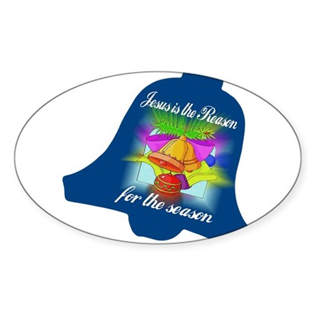 Jesus is the Reason Oval Sticker