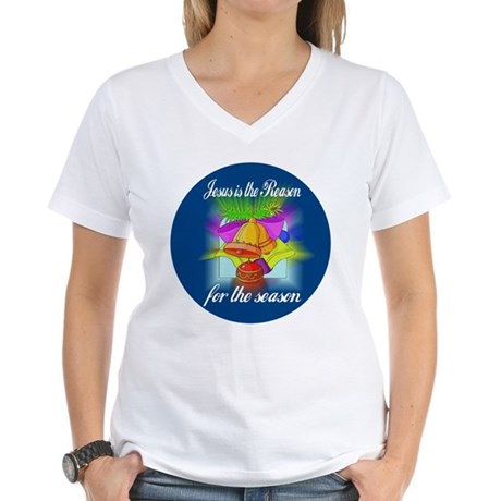 Jesus is the Reason Women's V-Neck T-Shirt