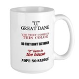 Great Dane Walking Answers Coffee Mug