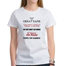 Great Dane Walking Answers Tee