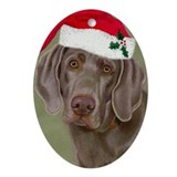 Weimaraner Oval Ornament