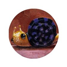 "Mr. Snail 3.5"" Button"
