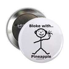 "Bloke with Pineapple 2.25"" Button (10 pack)"