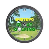 Gustavo is Out Golfing - Wall Clock