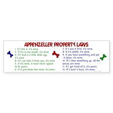 Appenzeller Property Laws 2 Bumper Bumper Sticker