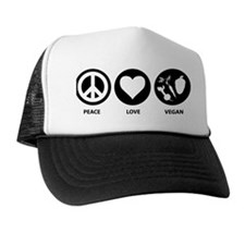 Peace Love Vegan Trucker Hat