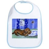DACHSHUND chews ball Design Bib