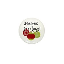 Season's Greetings Ornaments Mini Button (10 pack)