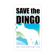 SAVE THE DINGO Rectangle Decal