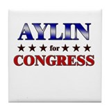 AYLIN for congress Tile Coaster