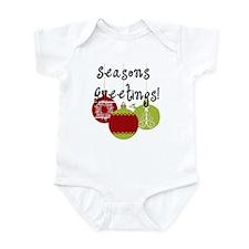 Season's Greetings Ornaments Infant Bodysuit