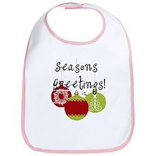 Season's Greetings Ornaments Bib
