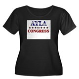 AYLA for congress Women's Plus Size Scoop Neck Dar