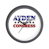 AYDEN for congress Wall Clock