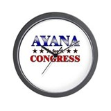 AYANA for congress Wall Clock