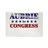 AUBRIE for congress Rectangle Magnet