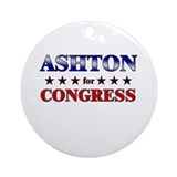 ASHTON for congress Ornament (Round)