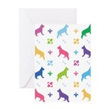 German Shepherd Designer Greeting Card
