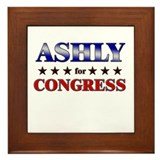 ASHLY for congress Framed Tile
