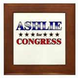 ASHLIE for congress Framed Tile