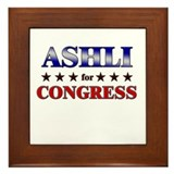 ASHLI for congress Framed Tile