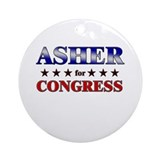 ASHER for congress Ornament (Round)