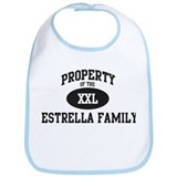 Property of Estrella Family Bib