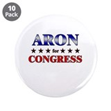 "ARON for congress 3.5"" Button (10 pack)"