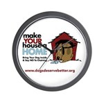 A Dog House is NOT A Home Wall Clock