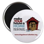 A Dog House is NOT A Home Magnet