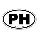 Pinehurst, North Carolina PH Euro Oval Sticker
