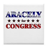 ARACELY for congress Tile Coaster